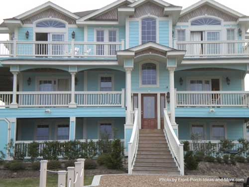 Duck north carolina duck nc front porch ideas for Beach house with wrap around porch
