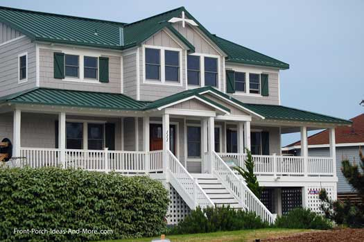 Beautiful front porch on beach house in Duck NC