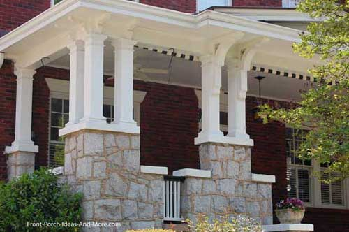 interesting porch column design