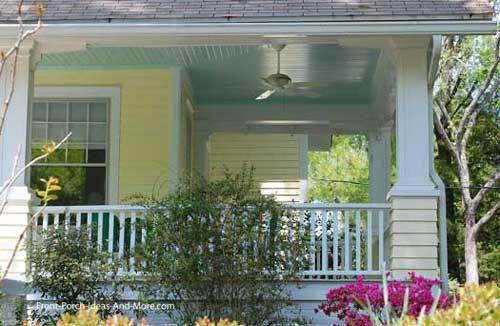 classic haint blue porch ceiling