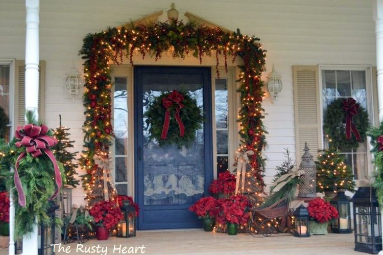 magical Christmas front porch decorations