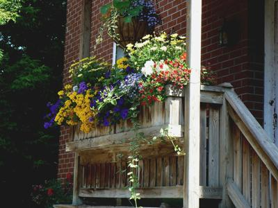 Even a small porch can be beautiful