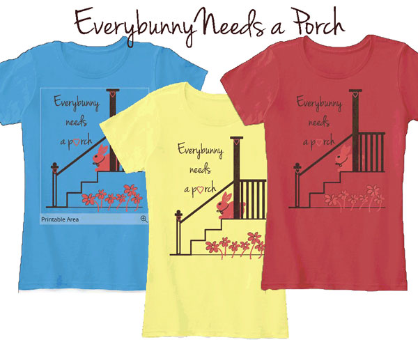 T-shirt for porch lovers. Available in many sizes in both long and short sleeve styles. Created by Front Porch Ideas and More