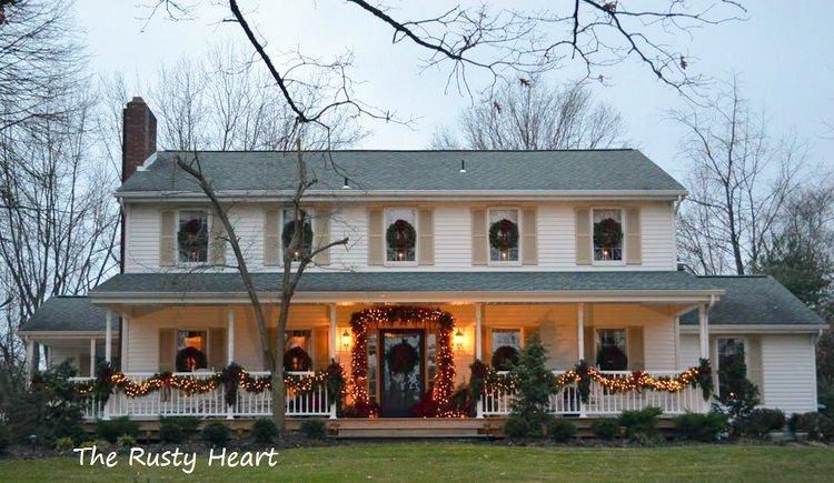 exquisite exterior christmas decorations on front porch - Exterior Christmas Decorating Ideas