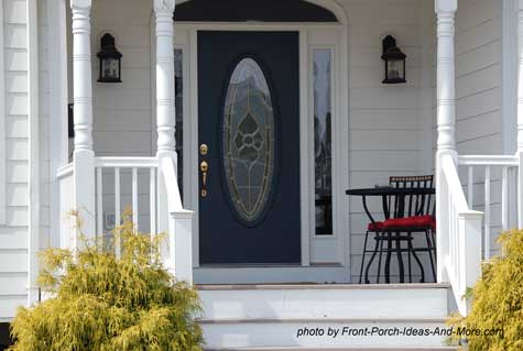beautiful front door on front porch