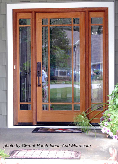 exquisite exterior front door with two side windows