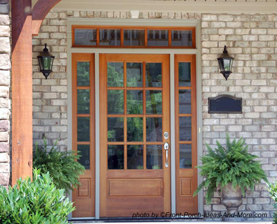 lovely front door with side windows