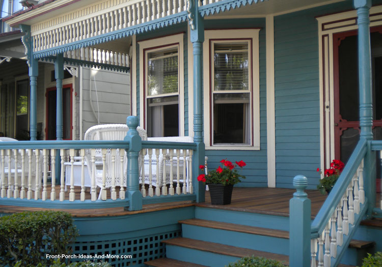 Exterior Trim On House On Victorian Front Porch