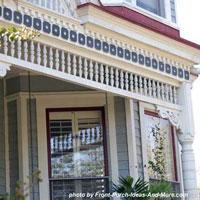 exterior house trim on front porch