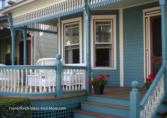 spandrels and running trim on victorian front porch