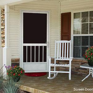 aluminum exterior screen door by PCA Products