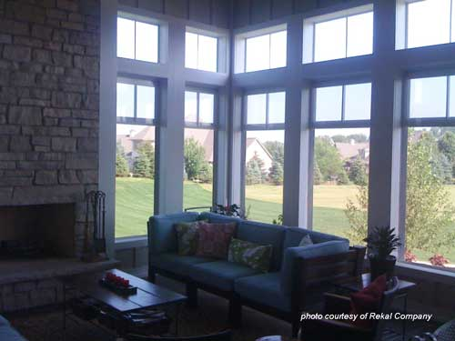EzePorch vinyl window panels on screened porch