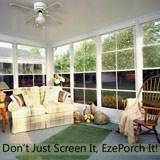 Learn more about Ezebreeze screen porch windows from the Rekal Company