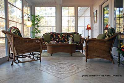 Furnished three season porch