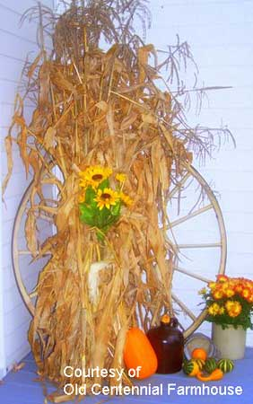 Autumn decorating with simple items