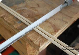 cutting dowels for windcatcher