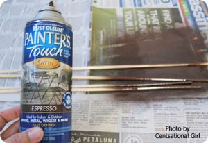 paint spray can for painting dowels