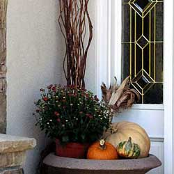 small porch fall decorating ideas