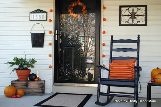 Turn fall decorating ideas into halloween decor on your Small front porch decorating ideas for fall