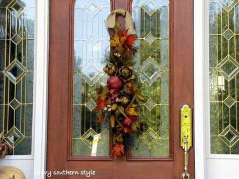 Kim's front door fall decorations