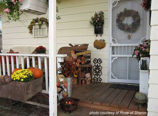 Rose of Sharon's autumn porch