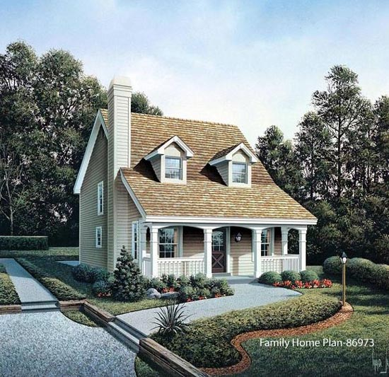 charming small home plan with delightful front porch