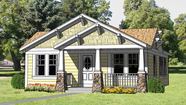 Bungalow floor plan Family Home Plans 94371