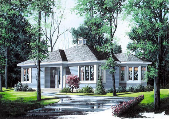 cottage style contemporary home plan