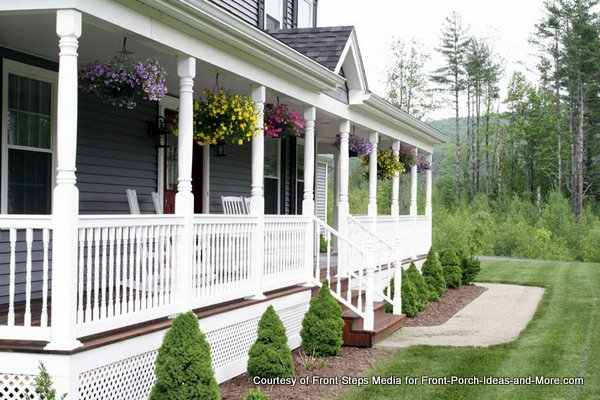 Farmers porch decorated beautifully - belongs to Todd at Front Steps Media