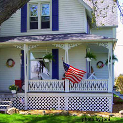 authentic 1898 farm house porch