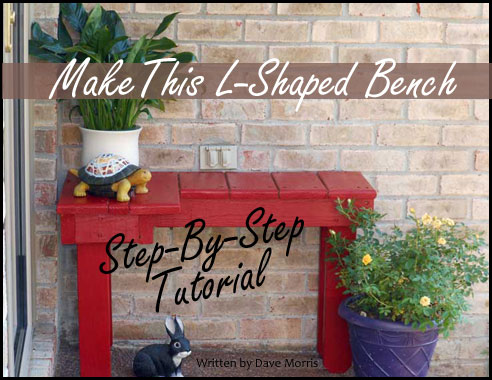 Make this cute L-shaped bench for your porch