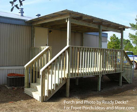 Charming Mobile Home Porch With Shed Roof