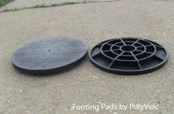 footing pads by polyvulc