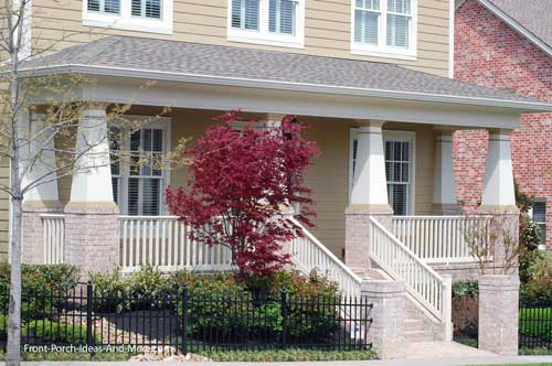 front porch with craftsman type columns