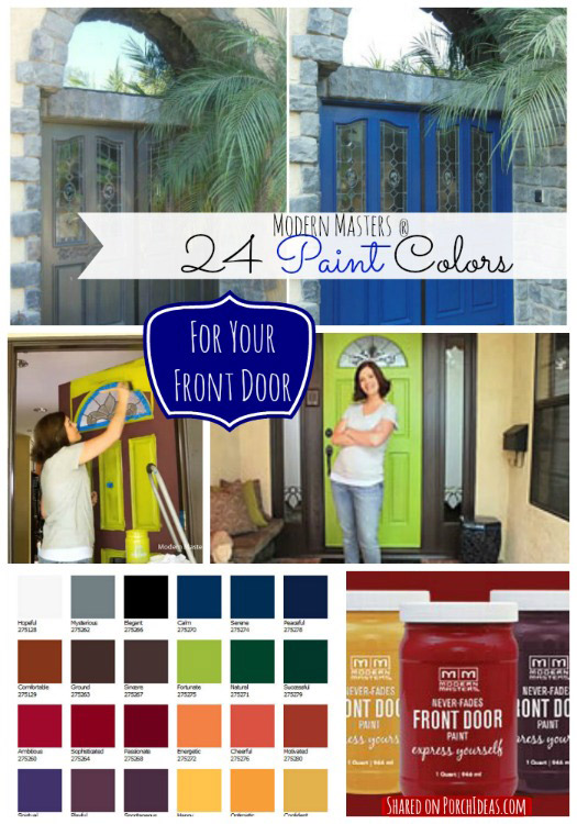 graphic of Modern Masters Front Door Paint Colors