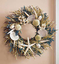 seashore front door wreath