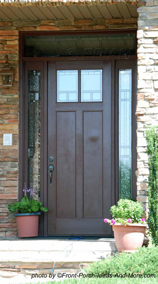 double doors with windows at top