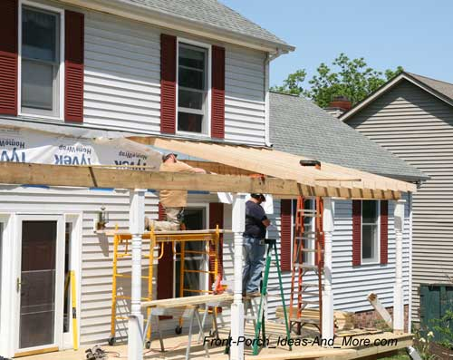 Front porch average square footage cost for Cost of building a roof