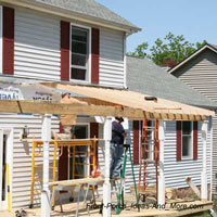 front porch under construction