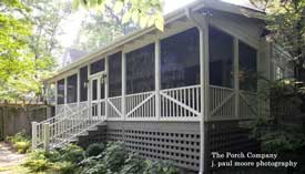screen porch on back of home