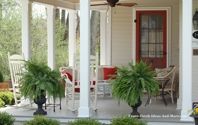 open porch with porch rocking chairs