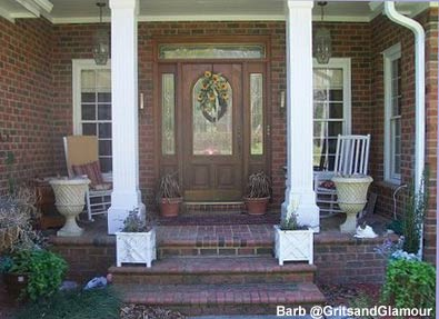 front porch design - before makeover