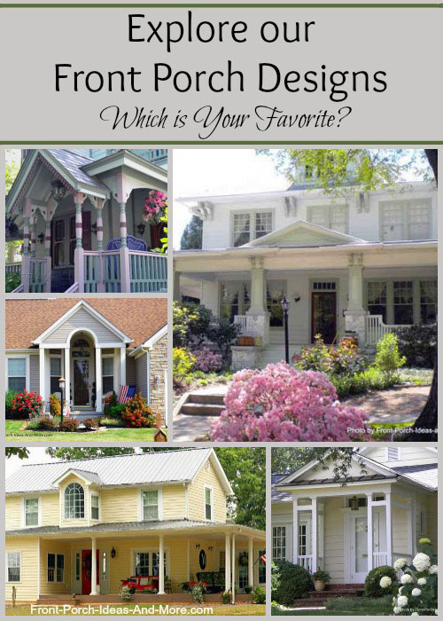 Front Porch Design Ideas front patio designs interior gorgeous front porch portico design ideas with half brick Front Porch Designs Collage Which Is Your Favorite