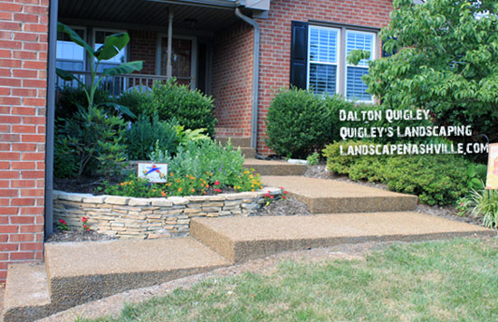 front entrance and porch landscaping for maximum curb appeal
