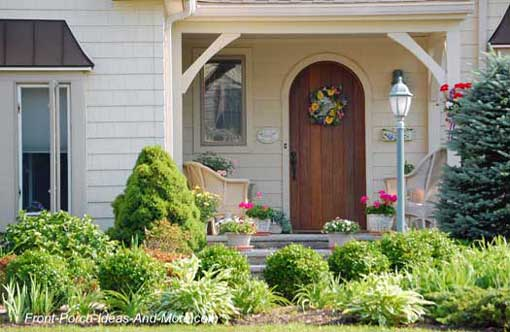 Pics for landscaping ideas around front porch for Front porch landscaping ideas