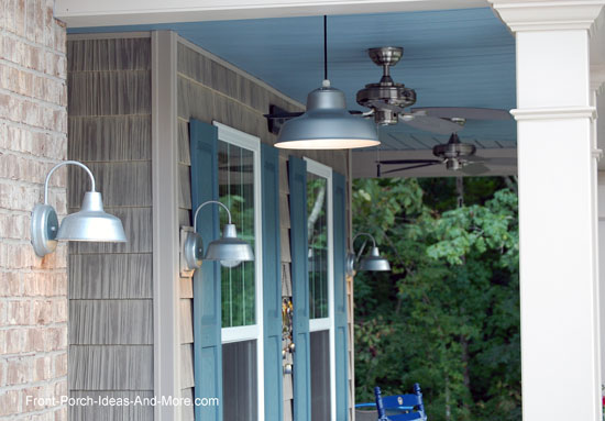 Hang porch lights for ambiance and safety barn style lights on front porch aloadofball