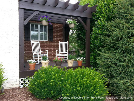 Debbie's freshly painted porch