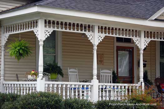 Exterior house trim on front porch