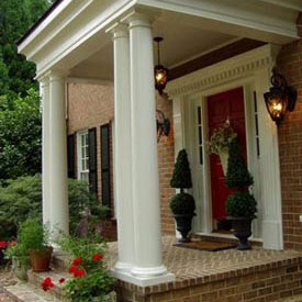 small front porch after remodeling