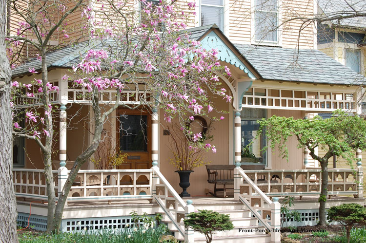 Victorian Front Porch In Spring
